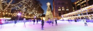 Night-View-Of-Natural-History-Museum-Ice-Rink